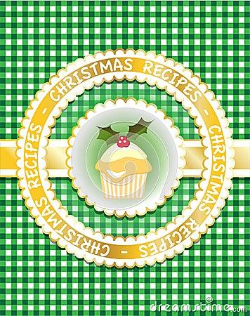 Christmas Recipe book, green