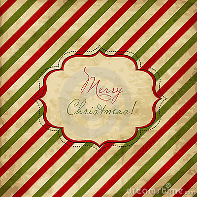 Free Christmas Red And Green Striped Card Stock Photography - 22279932