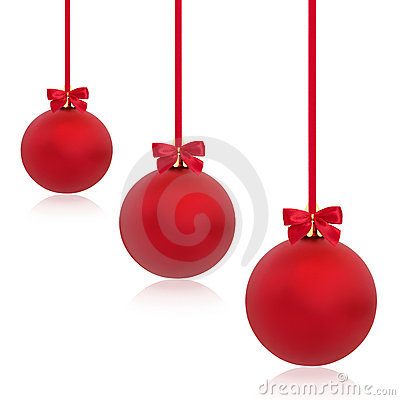 Free Christmas Red Bauble Beauty Stock Images - 15929164