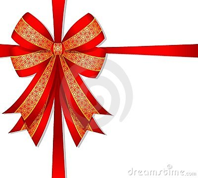 Free Christmas Red Bow Royalty Free Stock Photos - 6858218