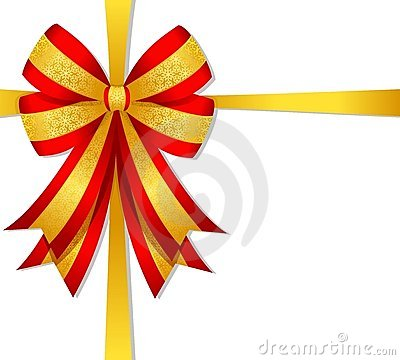 Free Christmas Red Bow Royalty Free Stock Photos - 6876758