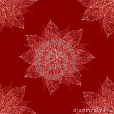 Christmas red floral pattern seamless
