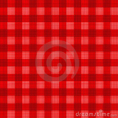 Christmas red gingham pattern