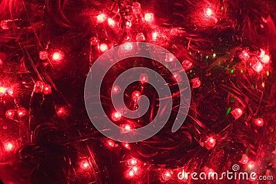 Christmas red lights