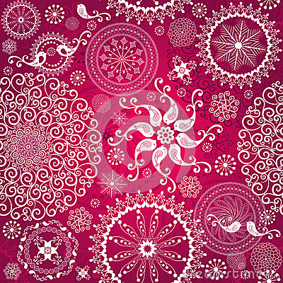 Free Christmas Red Repeating Pattern Royalty Free Stock Photos - 27383148