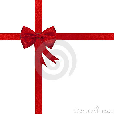 Free Christmas Red Ribbon And Bow Stock Photo - 21609240