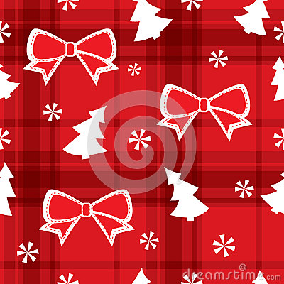 Christmas red seamless pattern