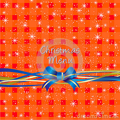 Christmas red table-cloth background, Menu design