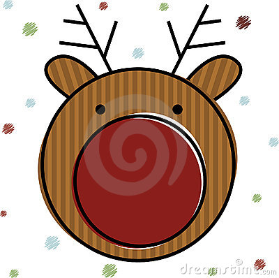 Christmas Reindeer . Vector Illustration