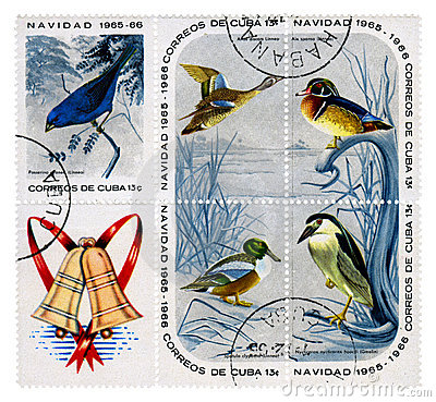 Christmas release of postage stamps