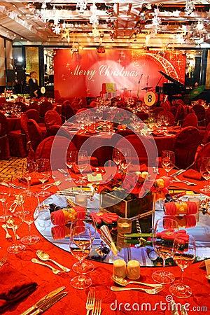 Free Christmas Restaurant Royalty Free Stock Photo - 7574015