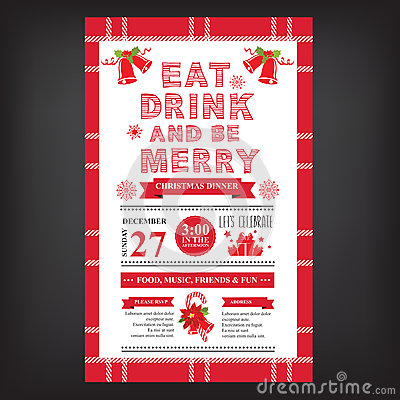 Free Christmas Restaurant And Party Menu, Invitation. Royalty Free Stock Image - 58692606