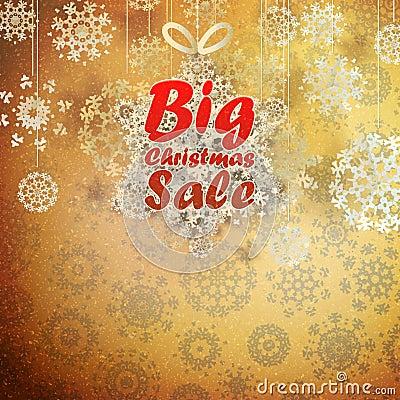 Christmas retro Big Sale with copy space.