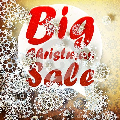 Christmas retro Big Sale with copy space.