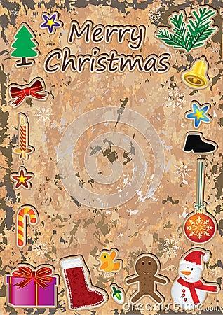 Christmas Retro Frame_eps