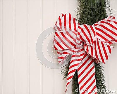Christmas Ribbon On Beadboard