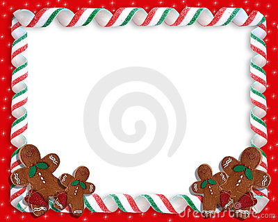 Christmas Ribbon Candy Frame