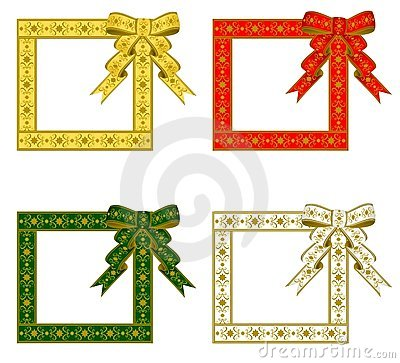 Christmas Ribbon Frame