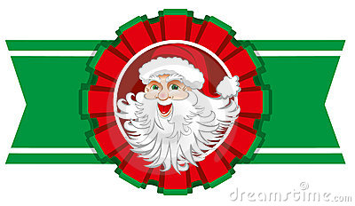 Christmas ribbon with santa claus