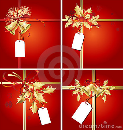 Christmas Ribbons, Bells & Tags Royalty Free Stock Image - Image: 7124776