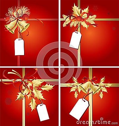 Christmas Ribbons, Bells & Tags