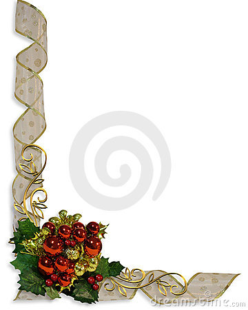 Christmas Ribbons Border Frame
