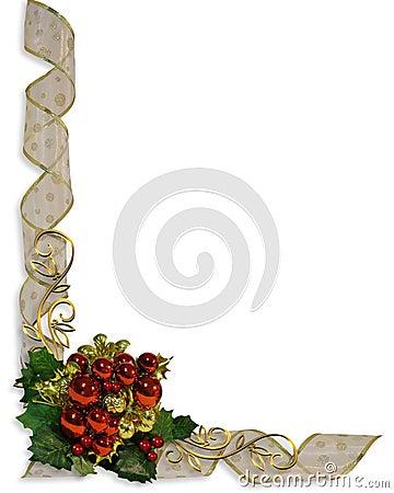 Christmas Ribbons Border Frame