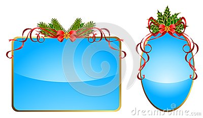 Christmas Ribbons Decorated Royalty Free Stock Photo - Image: 17255075