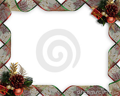 Christmas Ribbons frame or border