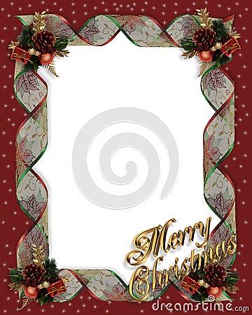 Christmas Ribbons frame border