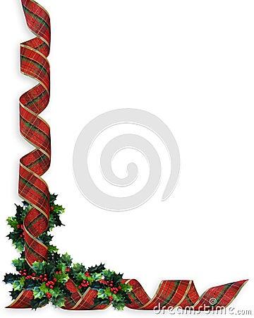 Christmas Ribbons Holly border