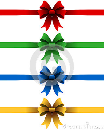 Free Christmas Ribbons Set Royalty Free Stock Photography - 26988757
