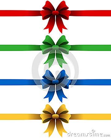 Free Christmas Ribbons Set Royalty Free Stock Photography - 26988757