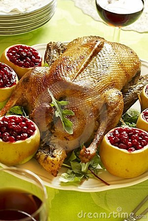 Free Christmas Roast Goose Royalty Free Stock Photo - 17123015
