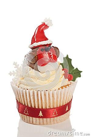 Christmas Robin Cupcake