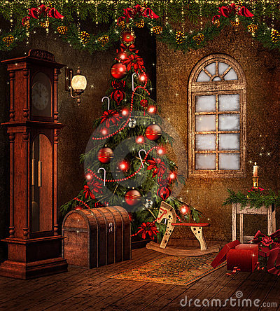 Free Christmas Room With Toys Stock Image - 21839491