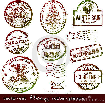 Free Christmas Rubber Stamps Stock Photos - 11759913