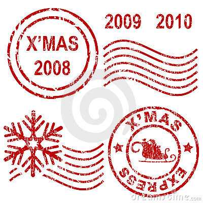 Free Christmas Rubber Stamps Stock Images - 6202964