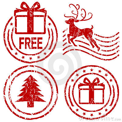 Free Christmas Rubber Stamps Stock Photography - 6203072