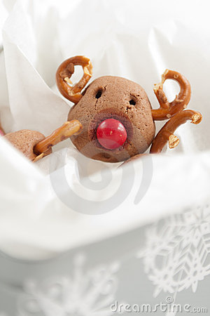 Christmas Rudolf Reindeer Cookies