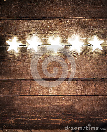 Free Christmas Rustic Background With Lights And Free Text Space. Fes Stock Photography - 47485992