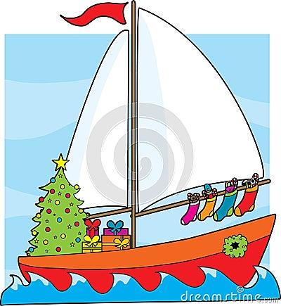 Christmas Sailboat