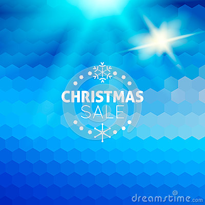 Christmas sale abstract blue background