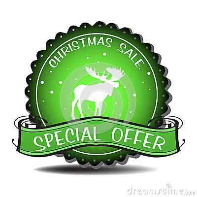 Christmas sale badge