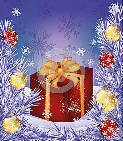 Christmas sale card Shop box present