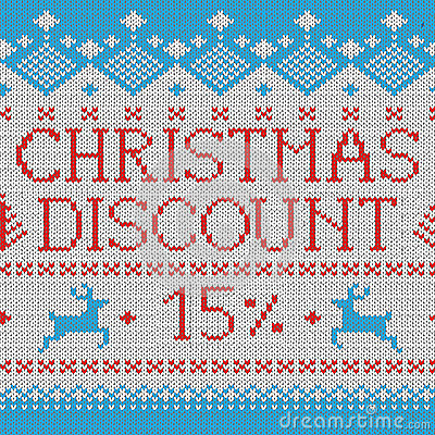 Free Christmas Sale: Discount 15 (Scandinavian Pattern) Royalty Free Stock Images - 28250709