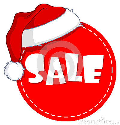 Free Christmas Sale Tag Royalty Free Stock Photos - 27637418