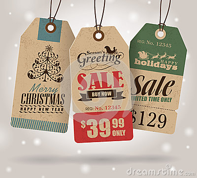 Free Christmas Sale Tags Royalty Free Stock Photos - 35037498