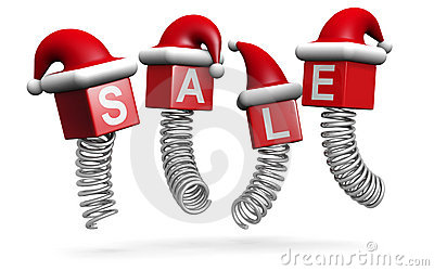 Christmas sales and promotion concept jumping