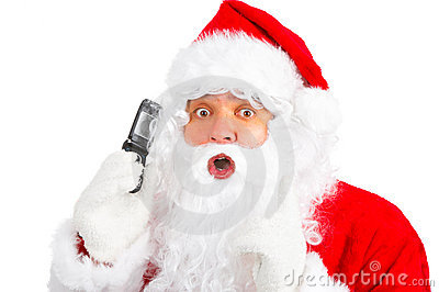 Christmas Santa with cellular
